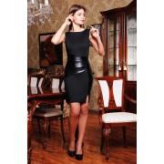 Чёрное коктейльное платье Tina