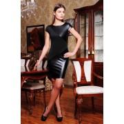 Платье с кожаными вставками Marcella
