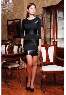 Платье с кожаной отделкой Marlena