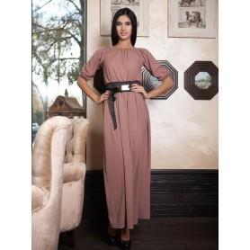 Бежевое платье в пол Novella
