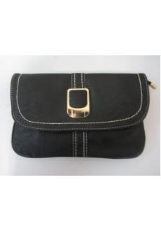 Чёрная сумка клатч Delia